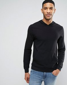Read more about Asos lightweight muscle hoodie in black - black