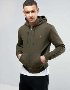 Read more about Polo ralph lauren zip through hoodie in olive - olive
