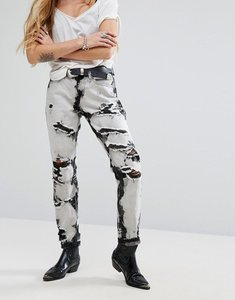 Read more about Glamorous mom jeans in bleach wash - grey