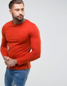 Read more about Another influence long sleeve pocket t-shirt - orange