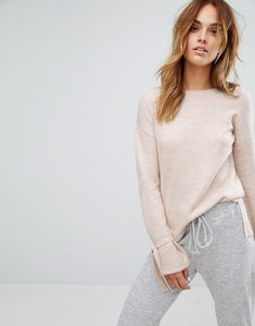 Read more about Micha lounge tie sleeve jumper - oatmeal