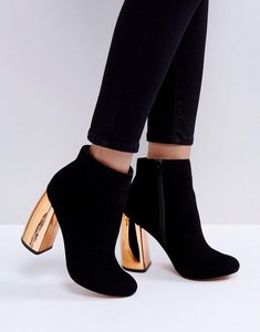 Read more about Asos elina heeled ankle boots - black