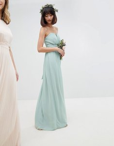 Read more about Tfnc bandeau maxi bridesmaid dress - green lily