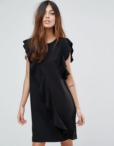 Read more about Vero moda frill asymetric dress - black
