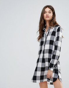 Read more about Current air check shirt dress - black white