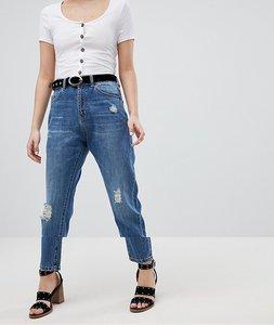 Read more about Vero moda aware distressed denim jeans - medium blue