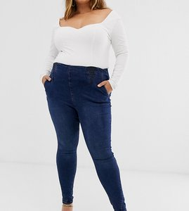 Read more about Simply be high waist shaper jegging in blue