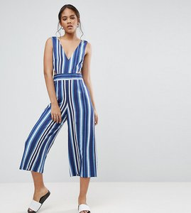Read more about Asos tall cut out side jumpsuit in stripe - multi