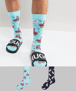 Read more about Asos socks with pinata design 2 pack - blue