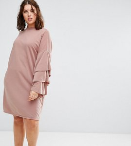 Read more about Alice you extreme tiered ruffle sweater dress - beige