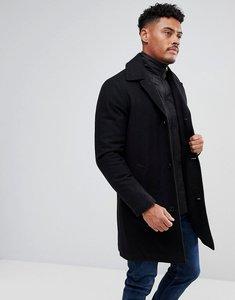 Read more about Kronstadt wool funnel neck overcoat - black