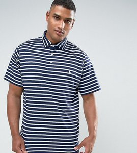 Read more about Polo ralph lauren tall stripe pima cotton polo slim fit in navy - navy stripe