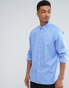 Read more about Polo ralph lauren poplin shirt buttondown regular fit in blue - periwinkle blue