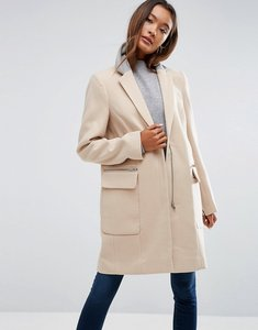 Read more about Asos coat in classic fit with contrast collar - camel