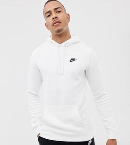 Read more about Nike tall pullover hoodie with swoosh logo in white 804346-100