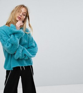 Read more about Oneon hand knitted cable sleeve jumper - aqua