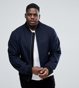 Read more about D struct plus wool bomber jacket - navy