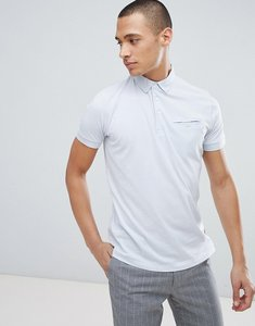 Read more about French connection woven collar polo shirt - blue