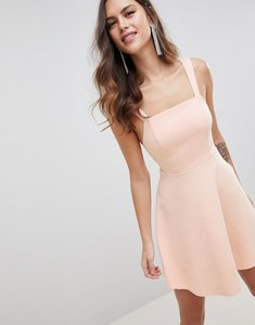 Read more about Asos design square neck mini prom dress - nude