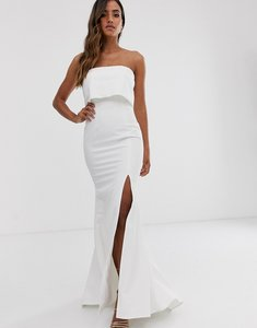 Read more about Jarlo bandeau overlay maxi dress in ivory