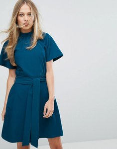 Read more about Closet london high neck aline skater dress - teal
