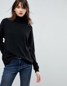 Read more about Asos oversized jumper with slouchy neck - black