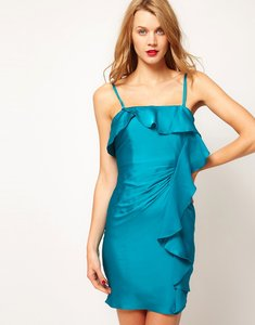 Read more about Coast frill bandeau dress - turquoise