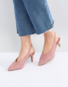 Read more about Asos swift slingback kitten heels - pink