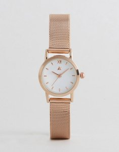Read more about Asos mini rose gold mesh watch - rose gold