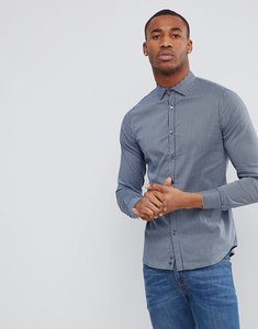Read more about Sisley checked shirt in slim fit - blue