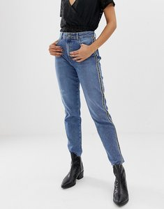 Read more about Pieces ella tape side mom jeans