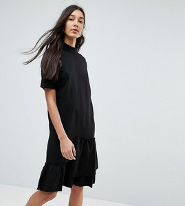 Read more about Noisy may tall asymmetric sweat dress with ruffle trim