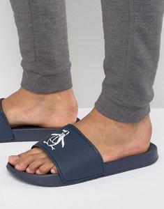 Read more about Original penguin slider flip flops - navy