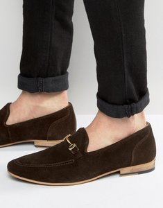 Read more about Kg by kurt geiger buckle loafers in brown suede - brown