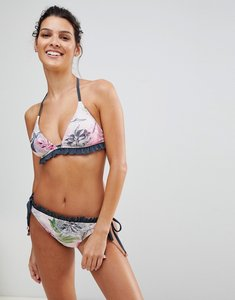 954089002 Read more about Ted baker ruffle triangle bikini top in palace gardens -  grey