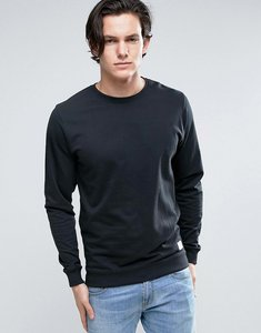 Read more about Solid crew neck sweatshirt in black - black