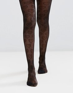 Read more about Gipsy heart net tights - black