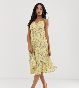 a5108ffcea Read more about Asos design midi dress with cami straps and cut out detail  in floral