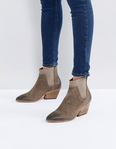 Read more about Hudson london malia taupe suede ankle boots - taupe