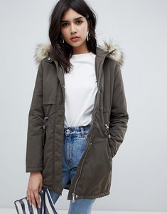 Read more about New look parka coat - khaki
