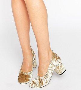 Read more about Asos simone velvet heels - olive velvet