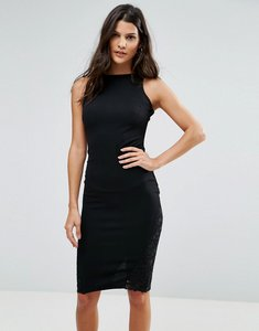 Read more about Ax paris pencil dress with lace insert - black