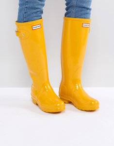 Read more about Hunter original tall gloss yellow wellington boots - yellow