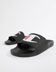 Read more about Champion sliders with large logo in black - black