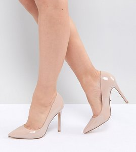 Read more about Faith wide fit chloe court shoes - nude