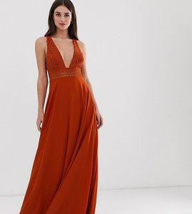 Read more about Asos design tall sleeveless maxi dress with lace bodice