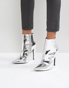 Read more about Asos evangelina pointed ankle boots - silver