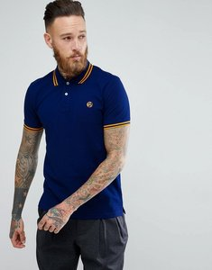 Read more about Ps paul smith slim fit twin tipped ps logo polo shirt in blue - blue