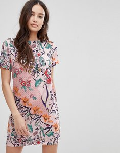 Read more about Glamorous floral shift dress - pink multi floral