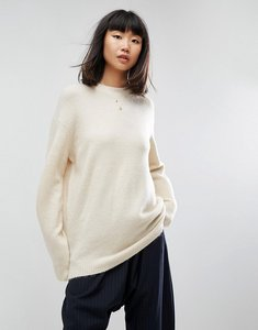 Read more about Asos jumper in oversized with crew neck - oatmeal